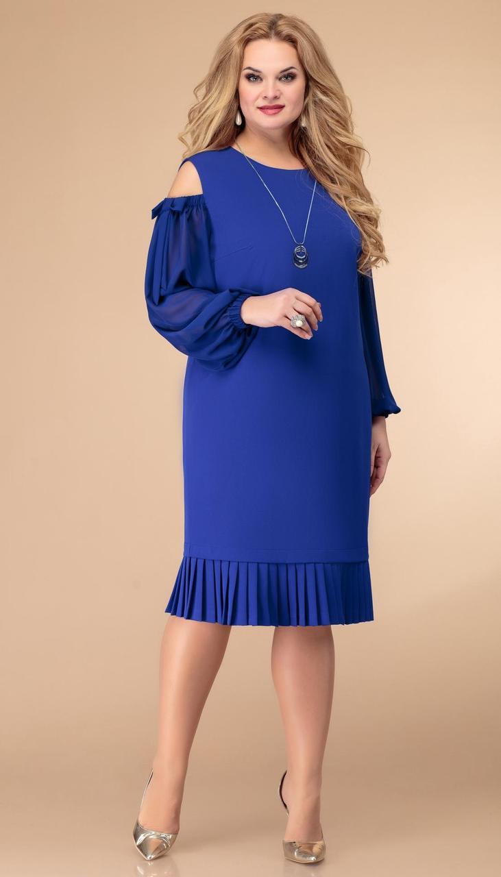 Платье Svetlana Style-1512 белорусский трикотаж, василек, 52