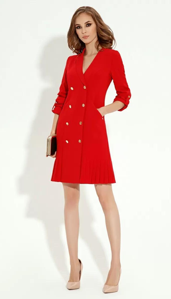 Платье Prio-13780Z/3 белорусский трикотаж, красный, 42
