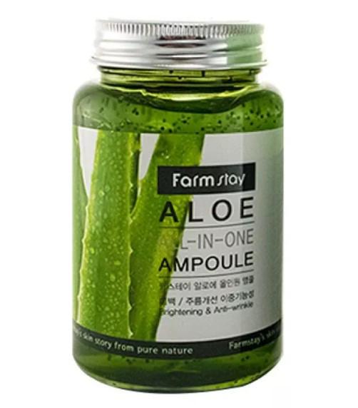 Многофункциональное средство с алоэ Farmstay Aloe All in one Ampoule 250 мл