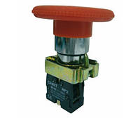 Кнопка-гриб NP2-BS642 (1NC) d60мм с фиксацией, возврат поворотом