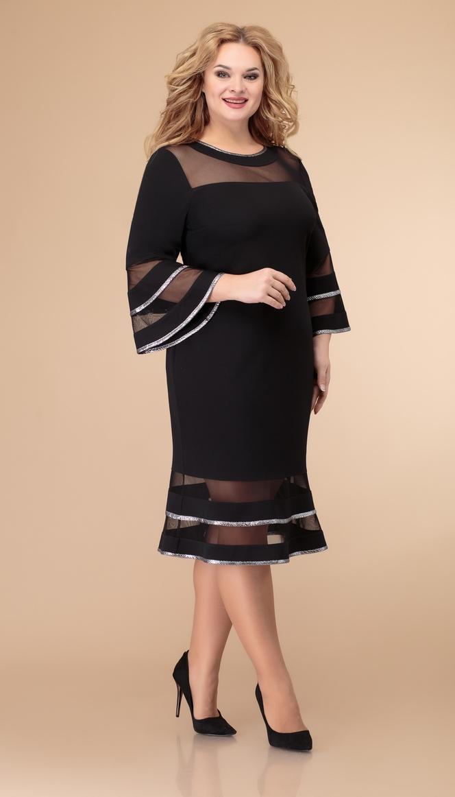 Платье Svetlana Style-1513 белорусский трикотаж, черный, 52
