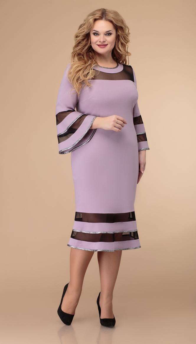 Платье Svetlana Style-1513/1 белорусский трикотаж, розовый , 52