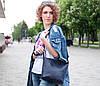 Шоппер Діамант Шкіра Італійський краст колір Бордо, фото 2