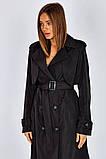 Плащ-тренчкот брендовый женский Domenica удлинённый двубортный (3 цвета, р.S-XL), фото 8