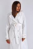 Плащ-тренчкот брендовый женский Domenica удлинённый двубортный (3 цвета, р.S-XL), фото 5