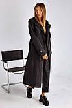 Плащ-тренчкот брендовый женский Domenica удлинённый двубортный (3 цвета, р.S-XL), фото 9