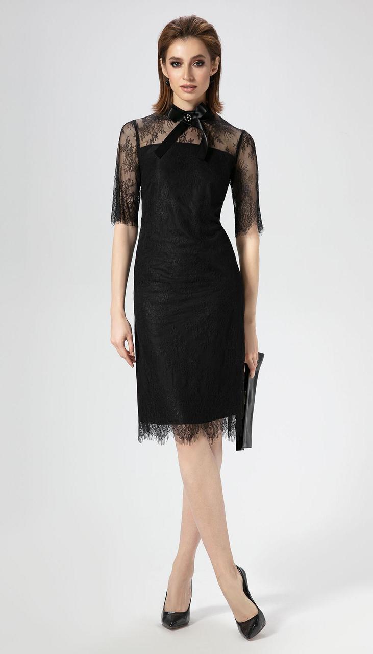 Платье Panda-467480 белорусский трикотаж, черный, 42