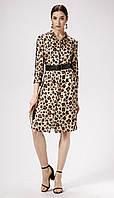 Платье Panda-468880/1 белорусский трикотаж, светло-бежевый леопард, 42, фото 1