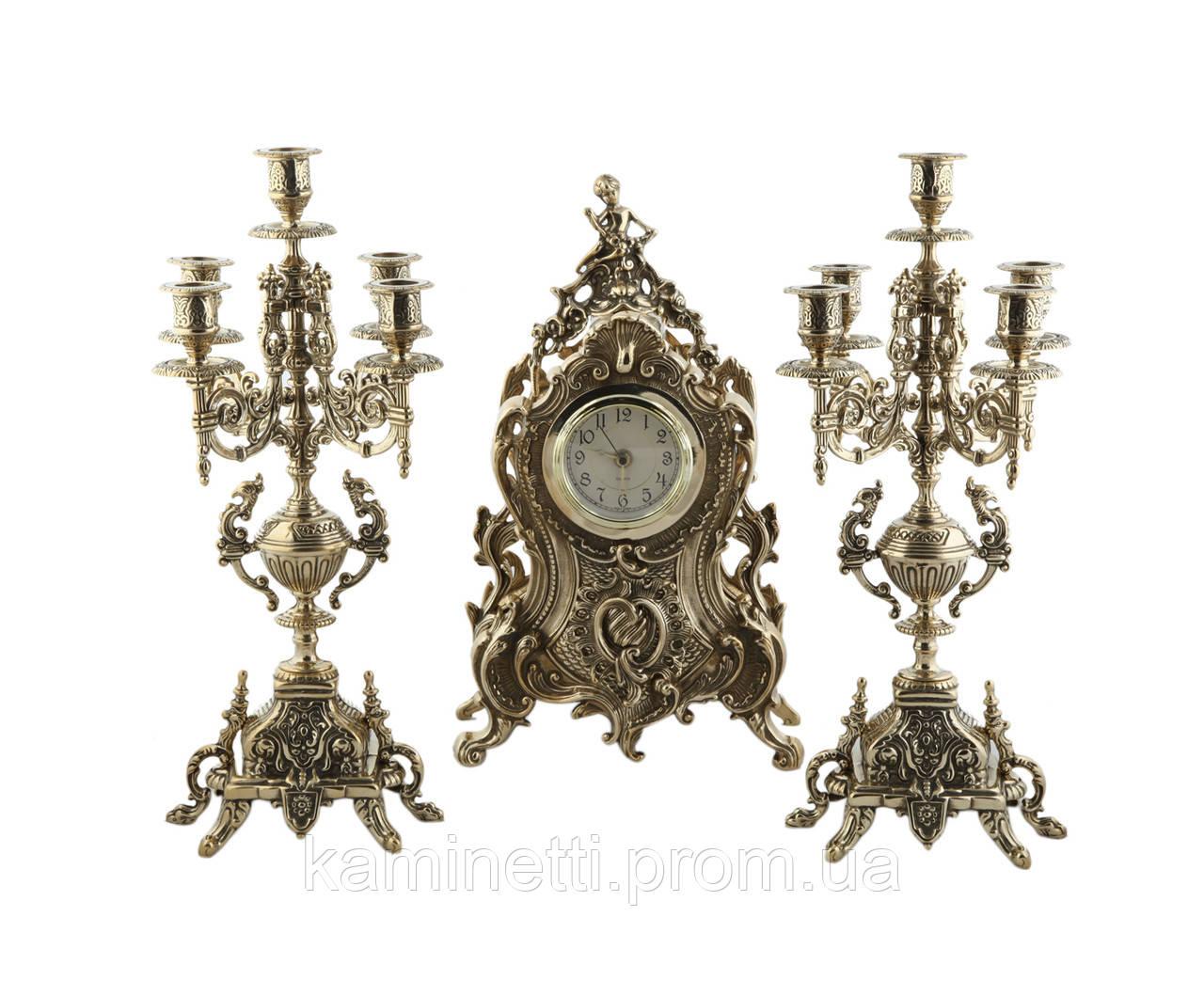 Часы каминные + 2 подсвечника на 5 свечей Stilars.  1813