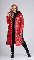 Пальто Диамант-1603/1 белорусский трикотаж, красный, 44, фото 1