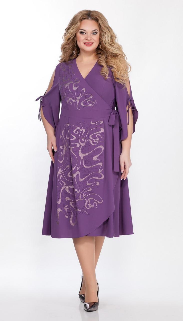 Платье La Kona-1337 белорусский трикотаж, пурпурный, 52