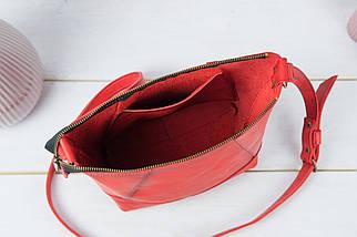 Шоппер Діамант Шкіра Італійський краст колір Червоний, фото 3