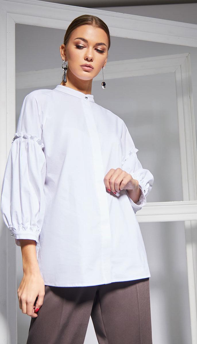 Блузка Kaloris-1647 белорусский трикотаж, белый, 42