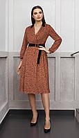 Платье Condra-4143 белорусский трикотаж, коричневый, 44