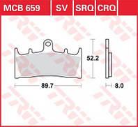 Тормозные колодки мото TRW-LUCAS передние MCB659SV для мотоцикла Kawasaki Ninja , ZX-6R , ZX- 9R , ZX-7R