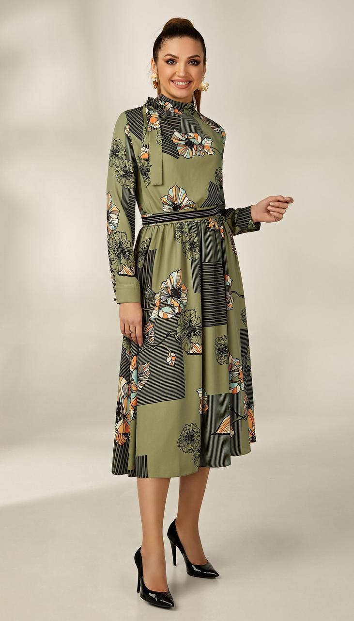 Платье Condra-4169 белорусский трикотаж, зеленый, 42