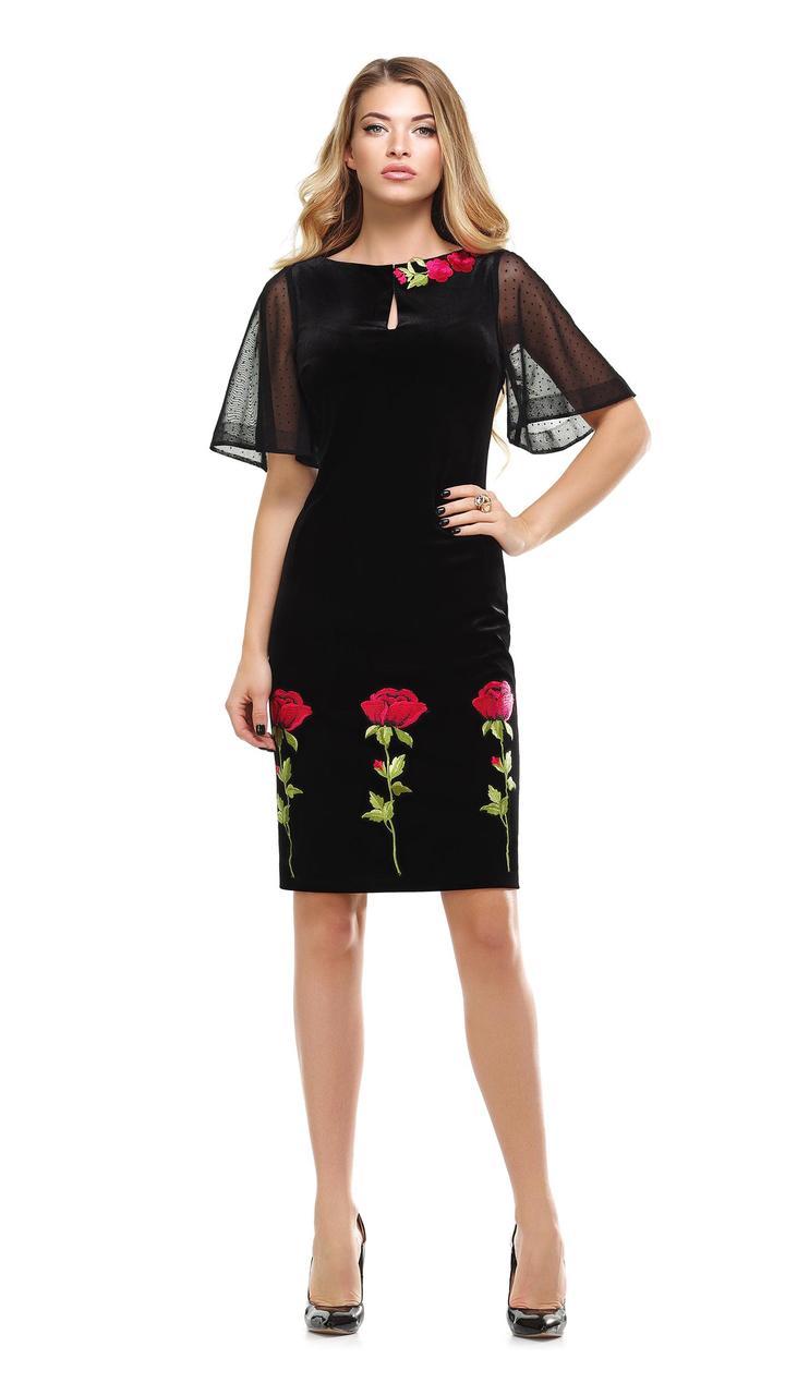 Платье Condra-4743 белорусский трикотаж, черный, 48