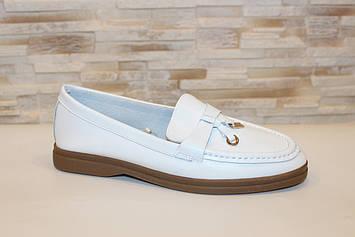 Туфли женские белые натуральная кожа Т1304