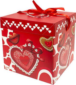 Подарункова коробка складна,20,5х20,5х20см,мікс,в кульку №PB2352(12)(192) КІ
