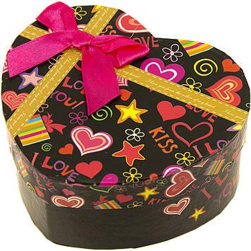 """Подарункова коробка """"Серце"""" 11,5х10х5см,в кульку №PB7741(6)(360) КІ"""