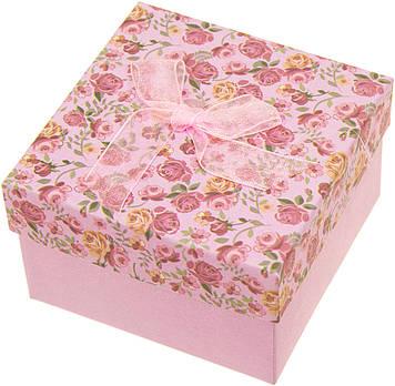 Подарункова коробка 8,7х8,7х5,5см мікс,в кульку №PB7742(6)(360) КІ