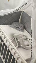 """Комплект сменного постельного белья Стеганка. """"Зайка"""" балдахин, одеяло, подушка, бортики-защита и тд Т"""