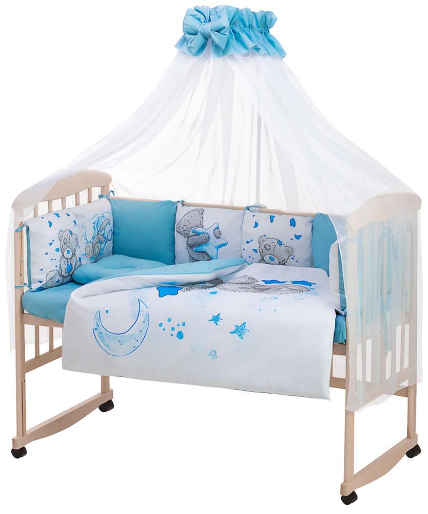 Дитяча постіль Babyroom Bortiki Print-08 blue teddy