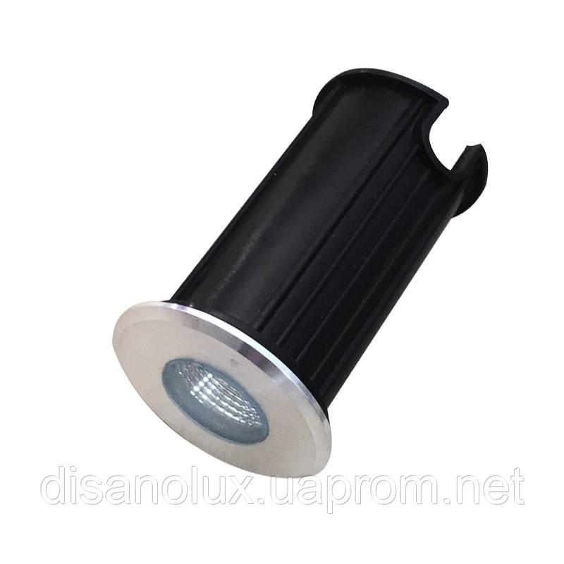 Світильник ґрунтовий K-2801 COB LED 2W 3000К 220V IP65 розмір 42мм * 75мм