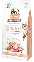 Brit Care Cat Sensitive 7 кг - корм для кошек с чувств. пищеварением (индейка и лосось)