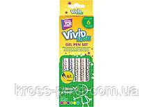 Набор гелевых ручек Vivid Flash, 6 неоновых цветов