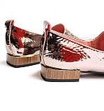 Жіночі шкіряні туфлі золотисті, фото 2