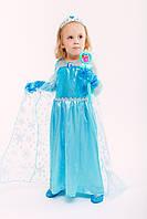 """Платье Принцесса Эльза из мультфильма """"Холодное сердце"""" с шлейфом размер 120"""