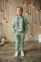 {есть:128,134,140,146} Трикотажный костюм-двойка Zara для девочек, Артикул: SG4759-фисташка [128]