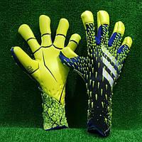Вратарские перчатки Adidas Predator 21 Pro Hybrid Black/Team Royal Blue/Solar Yellow/White
