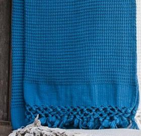 Плед-накидка Buldans - Bohem denim синій 130*180