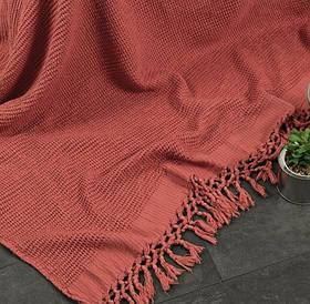 Плед-накидка Buldans - Bohem kiremit цегляний 130*180