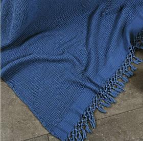 Плед-накидка Buldans - Bohem indigo синій 130*180