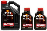 Синтетическое моторное масло Motul (Мотюль) 8100 X-clean 5W-40 5л.