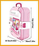 Портативний рюкзак Cosmetics toy | Ігровий набір для дівчинки | Ігровий набір дитячий рюкзак для принцеси, фото 6