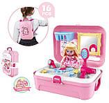 Портативний рюкзак Cosmetics toy | Ігровий набір для дівчинки | Ігровий набір дитячий рюкзак для принцеси, фото 2