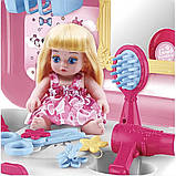 Портативний рюкзак Cosmetics toy | Ігровий набір для дівчинки | Ігровий набір дитячий рюкзак для принцеси, фото 4