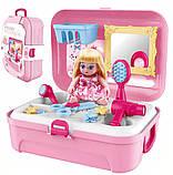 Портативний рюкзак Cosmetics toy | Ігровий набір для дівчинки | Ігровий набір дитячий рюкзак для принцеси, фото 3