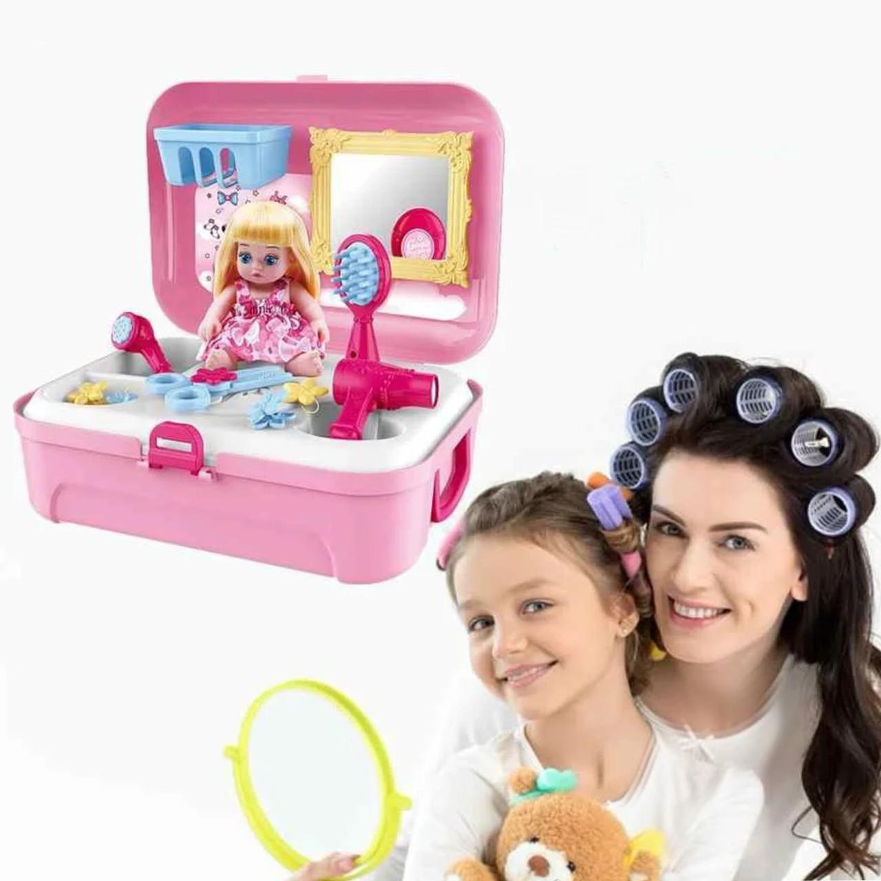 Портативний рюкзак Cosmetics toy | Ігровий набір для дівчинки | Ігровий набір дитячий рюкзак для принцеси