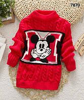 Вязаная кофта Mickey Mouse для мальчика. 3-4 года
