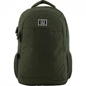 Рюкзак для города GoPack 142 46.5x29x14 см 22 л Зеленый (GO19-142L-2)