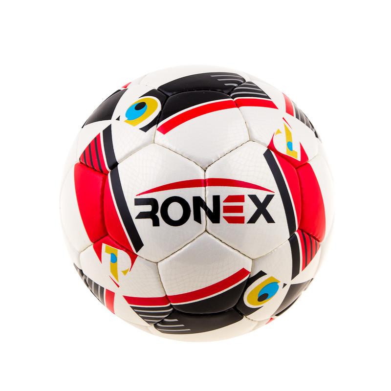 М'яч футбольний CordlySnake Ronex (AD16), біло/червоний.