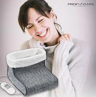 Электрическая грелка для ног сапожки с подогревом электрогрелка 100 Вт Profi Care PC-FW 3058 серая