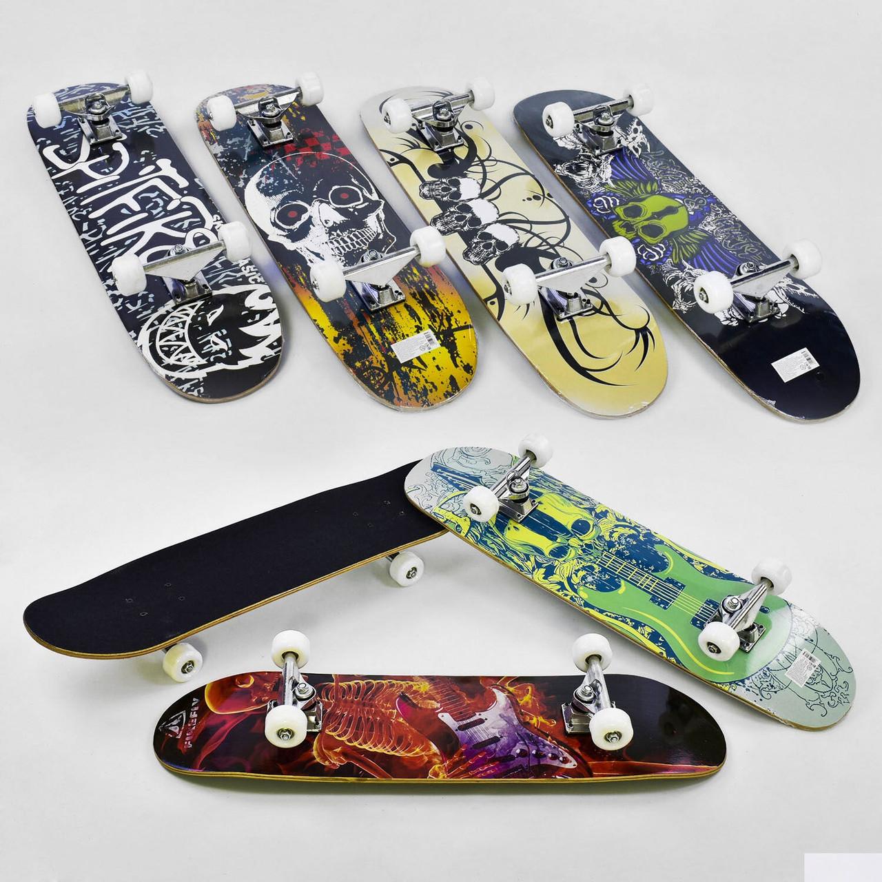 Скейт (скейтборд) 32028, підшипник АВЕС-9, колеса PU, d=5,5 см