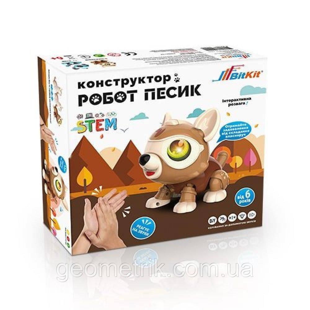 """Умный робот конструктор """"Пёсик"""" (коричневый) ШК 4820207390201"""