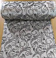 Портьєрна тканина сіра з узором шириною 1.50 м, фото 1